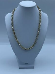 """9ct Gold Belcher Chain Necklace For Kids - 18"""", 5mm, 37.5g"""