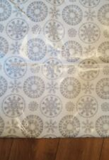 John Lewis Snowflake Table Cloth PVC Fabric RRP£12.95