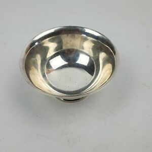 Sterling Silver Plain Bowl 130.4 Grams Mexico Hallmarked 4.5 Inches