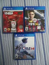FIFA 14 (Sony PlayStation 4, 2013) NBA 2K14, MLB The Show 14