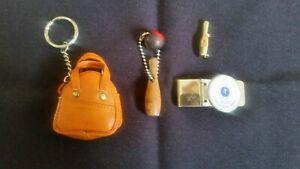 VTG BOWLING BAG KEYCHAINS, GREATER DETROIT AWARD MONEY CLIP & BOWLING LAPEL  PIN