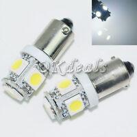 2 x T10 BA9S 5050 SMD 5 LED T4W 3886X 12V Auto LED Lampe Super Weiß Rücklicht