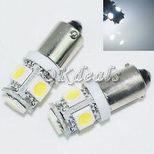 Sale 2 x White T11 T4W 53 57 H6W 3886X  BA9S 5050 SMD 5 LED Car Light Bulb Lamp