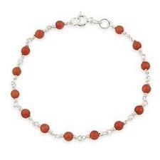Pink Sterling Silver Beaded Fine Bracelets