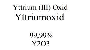 Chemie Labor Yttriumoxid Yttrium (III) Oxid Y2O3 Reinheitsgrad 99,99 % Stoff