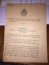 REGIO DECRETO MAGLIE TRICASE MARTIGNANO CAPRARICA di LECCE,MURO LECCESE GALATINA