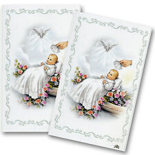 Baptism Christening Custom Remembrance Personalized Prayer Cards 24 NonLaminated