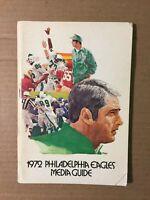 1972 Philadelphia Eagles NFL Football Media Guide GOOD Condition