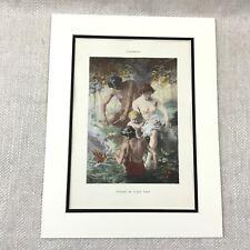 1898 Antique Print Nude Girl Painting Eda Nemoede Casterton Paris Salon Art