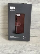 SENA Antorini Genuine Handcrafted Leather Flip Wallet Book Case iPhone 6 New