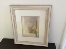 『French Serenity II 』Print by Fabrice De Villeneuve Matted Lily Flowre Framed