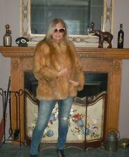 Sporty Red Fox Fur Coat Jacket