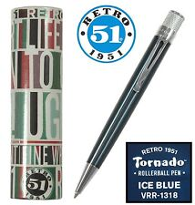 Retro 51 #VRR-1318 / Lacquered Ice Blue Tornado Rollerball Pen