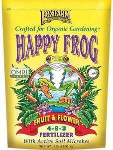 Foxfarm OMRI Happy Frog Fruit & Flower Fertilizer 4 Lb. Bag