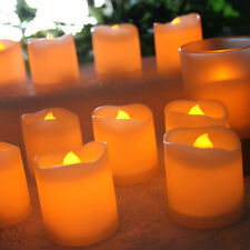 12Pcs Flameless Candles Flickering Romantic LED Battery Powered Tealight Candle