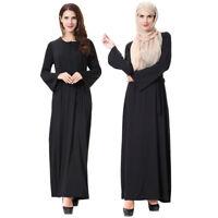 Dubai Vintage Maxi Dress Women Muslim Prayer Kaftan Islamic Abaya Cocktail Robe