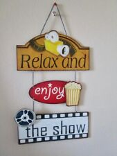 HOME THEATRE SIGN  - Great Conversation Piece - Ready To Hang