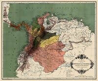 Colombian Republic - Lahure 1886 - 23.00 x 27.98