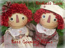 Primitive Raggedy Ann & Andy Pattern #160 Endless Love