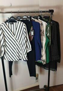 Womens Ladies Clothes Bundle Size 14 Leggings Dress Blouse Top Shirt Skirt W8