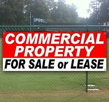 COMMERCIAL PROPERTY FOR SALE OR LEASE 13 oz heavy duty vinyl banner sign with