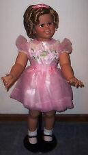 "Nib Vintage Shirley Temple Playpal Doll Danbury Mint w/Stand~33""Tall~Coa"