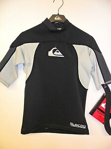 QUIKSILVER Men's SYNCRO .5mm S/S WETSUIT Top - BGY - Small - NWT