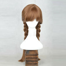 [wamami] 101# Linen Long Wig Cosplay Frozen Anna Woman Party Wig Accessories