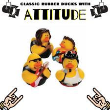 Classic Rubber Ducks With Attitude Rock n Roll Metal Punk BAND BATH DUCKS