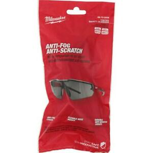 Milwaukee 48-73-2006 Durable Anti-Scratch/Fog Tinted Safety Glasses