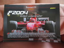 Zertifikat Ferrari F 2004 Rennwagen Sportwagen Formel 1 Michael Schumacher F1 €€