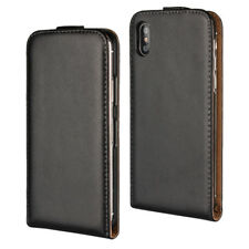 Luxury Magnetic Leather Vertical Flip Case Cover Skin For iPhone Samsung Huawei