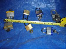 Padlocks...seven (7)...several types...used...local pick up..Atlanta, Ga.