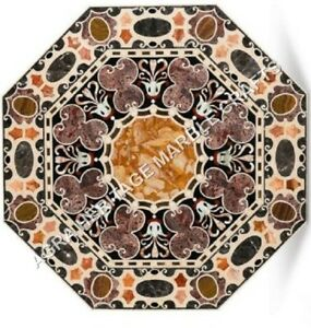 """36"""" Gorgeous Marble Dining Top Table Intregrate Inlay Fine Art Patio Decor H5119"""
