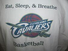 Used 2000s Eat Sleep & Breathe Cleveland Cavaliers NBA Screened T-Shirt 2XL