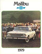 1979 Chevrolet Malibu Sport Coupe Classic Landau Coupe Sedan Sales Brochure