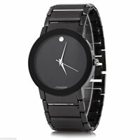 Waterproof  Mens Casual Black Wrist Watch Gents Luxury Geneva Quartz Watches