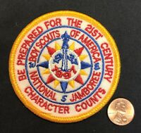BSA BOY SCOUTS OF AMERICA 1997 NATIONAL JAMBOREE FELT 3-INCH POCKET PATCH MINT!!