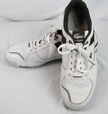 Lacoste Sport Reijo Mens Tennis Shoes sz 13 US White Brown Java Leather Sneakers