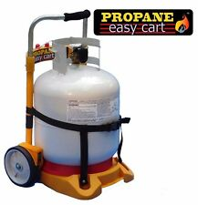 Propane Easy Cart for Heaters n BBQ Grills Refill Adapter (LP tank not included)