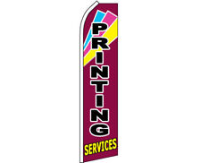 PRINT SERVICES Swooper Banner Feather Flutter Bow Tall Curved Top Flag