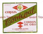 1970s VENEZUELA Cerveza CARDINAL Caracas Beer Label Tavern Trove