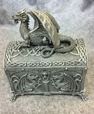 Hinged Dragon Chest Shaped Trinket Box
