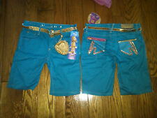 NWT $36 HANNAH MONTANA FANCY SHORTS & CHANGE PURSE 12