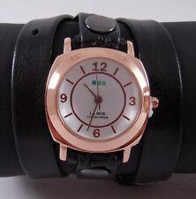 La Mer Black Rose Gold Odyssey Wrap Watch