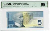 Canada $5 2004-05 BC-62b PMG Superb Gem UNC 68 EPQ