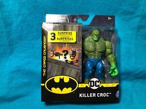 "DC KILLER CROC Spin Master 4"" Action Figure Caped Crusader (Green hands! HTF)"
