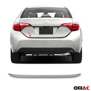 Fits Toyota Corolla 2014-2019 Dark Chrome Tailgate Trunk Trim Moulding S.Steel