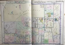 1916 Montgomery Co., North Pa, Springfield, Wyndmoor Reproduction Plat Atlas Map