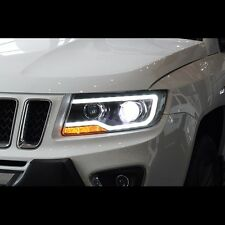 LED Projector DRL Xenon HID Headlights Assembly For Jeep Compass 2011~2015